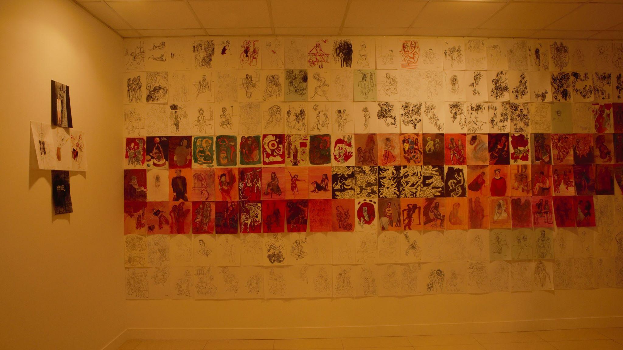 Jonathan Bougard expose près de 400 dessins à Parris